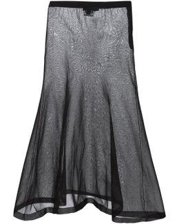 Sheer A-line Skirt