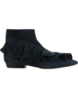 Ruffle Ankle Boots