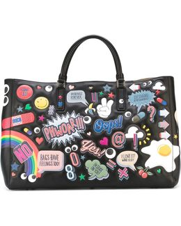 'ebury All-over Stickers' Tote