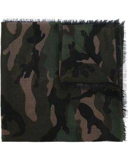 Military Green Camu Scarf
