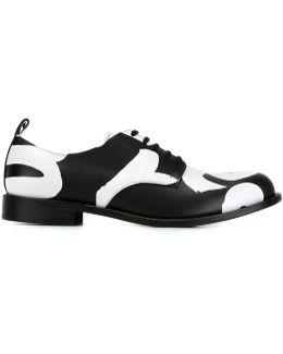 Bi-colour Derby Shoes