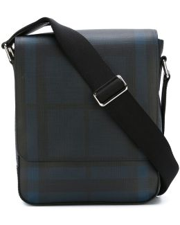 Checked Messenger Bag