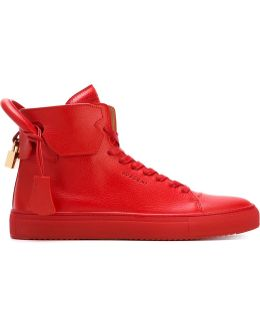 125mm Leather High-Top Sneakers