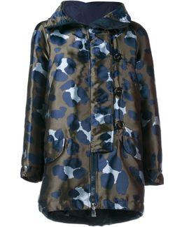 Camouflage-print Shell Parka Jacket