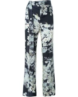 Floral Print Tailored Trousers