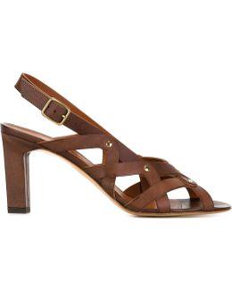 'yuli' Low Heel Sandals