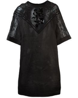 Sheer Lace Panel Dress
