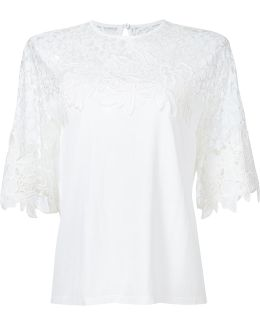 Lace Panel Knit Top