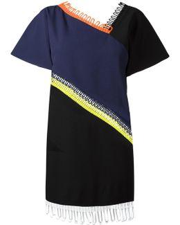 Loop Trim Short Sleeve Dress