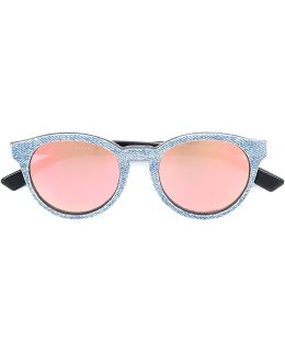 Denim Effect Frame Sunglasses