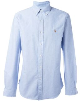 Button-down Collar Chest Logo Shirt