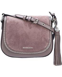 Brooklyn Leather and Suede Saddle Cross-Body Bag