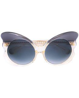 Linda Farrow X Cat Eye Frame Sunglasses