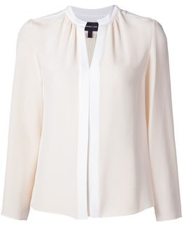 Pleated Placket Blouse