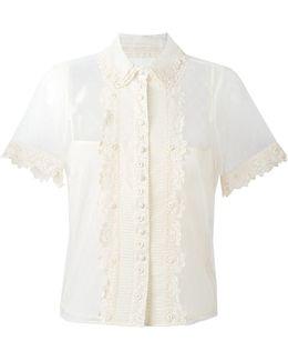Sheer Lace Shortsleeved Blouse