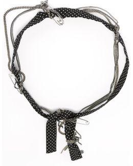 Polka Dot And Chain Headband