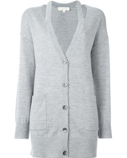 Cut-out Lapels Cardigan