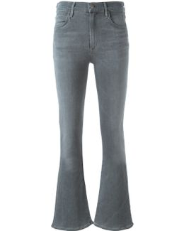 Mid Rise Flared Trousers