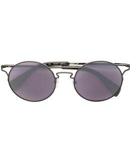 Cut-out Metal Sunglasses