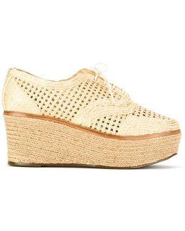 Woven Platform Derby Shoes