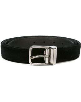 Frayed Velvet Belt
