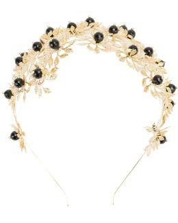Bead And Leaf Embellished Headband