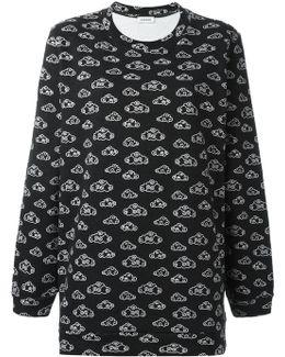 Clouds Print Sweatshirt