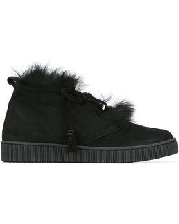 Fur-trimmed Sneakers