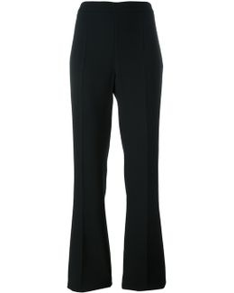 Lateral Zip Flared Trousers