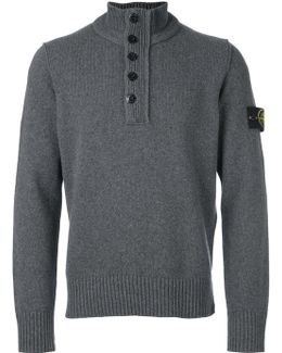 Zipped Buttoned Pullover