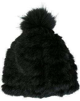 Fur Pompom Hat