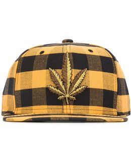 Embroidered Leaf Hat