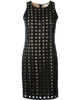 Perforated Fitted Dress