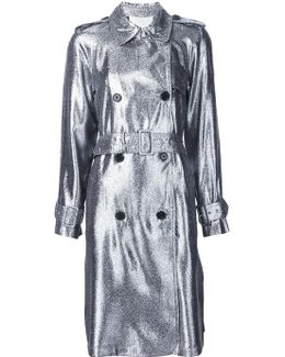 Lamé Trench Coat