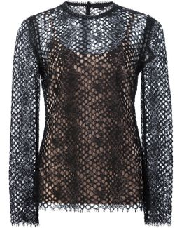 Perforated Lace Top