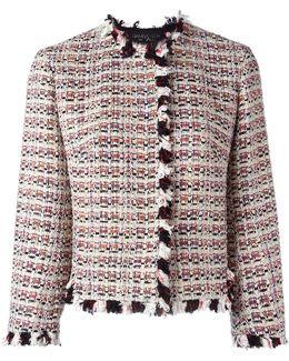 Ruffle-trim Tweed Jacket
