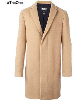 Mid-length Concealed Fastening Coat