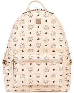 Logo Print Backpack