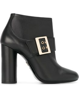 Leather Mary-Jane Ankle Boots