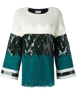 Geometric Pattern Knitted Blouse