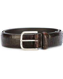 Scratched Design Belt