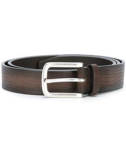 Etched Snakeskin-effect Belt