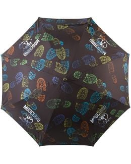 - Boot Print Umbrella - Women - Polyester - One Size