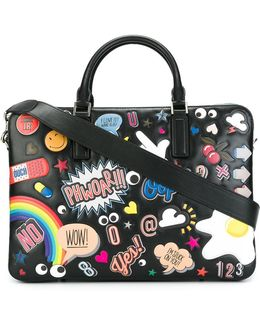 Multiple Patches Briefcase