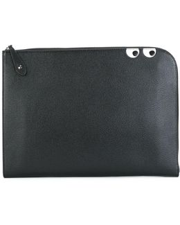 'eyes' Zipped Clutch