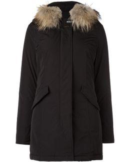 Collar Detail Parka Coat
