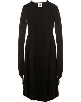 Raw Edge Flared Dress