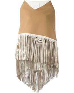 Fringed Wide Scarf