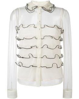 Semi Sheer Ruffled Shirt