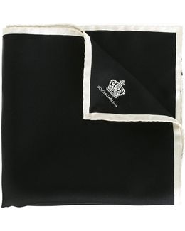 Crown Print Pocket Square